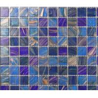China 2018 summer LAR047 Foshan supply glass mosaic Colorful square swimming pool mosaic wholesale