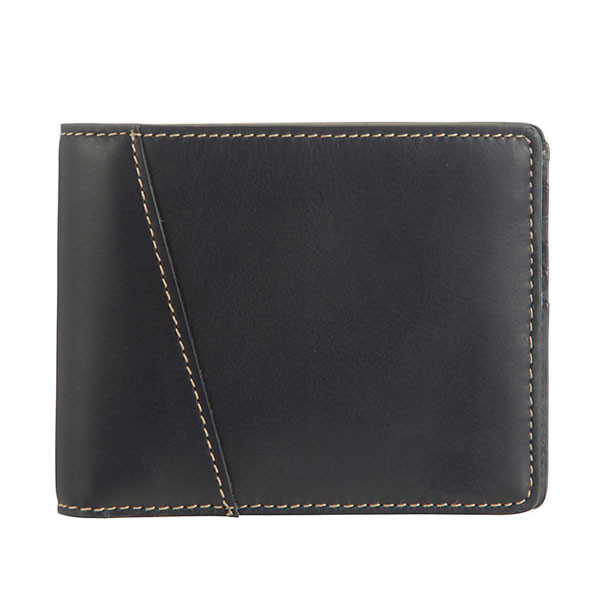 Quality Envelope European Ladies Leather Wallets bags / Black Leather Coin Purse for sale