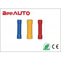 China BV Series Butt Splice Insulated Crimp Terminals Tin Plated Copper / Brass / Vinyl on sale