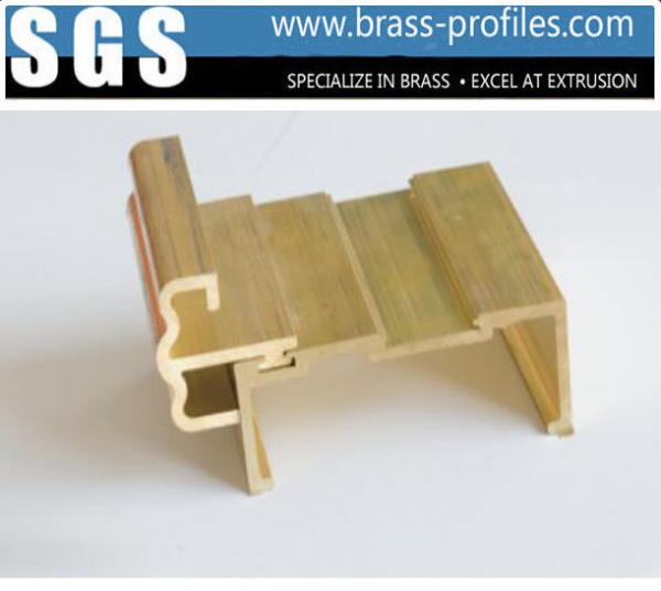 Quality Brass Window Extrusion Profiles and Copper Profiled Materials for sale