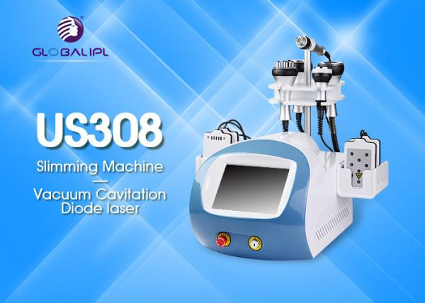 Quality 1-50W/Cm2 Rf Cavitation Machine / Diode Laser Face Lifting Body Slimming Machine for sale