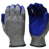 China Crinkle Palm Latex Coated Work Gloves , Insulated Winter Work Gloves wholesale