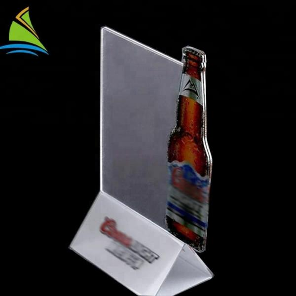 Quality Professional Acrylic Sign Display Holde Cool Design Beer Card Stand acrylic Holder for sale