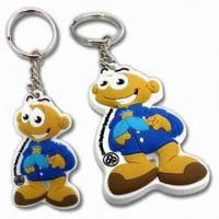 Buy cheap Promotional/Soft Flexible PVC Rubber Keyrings, Measures 48 x 40mm from wholesalers