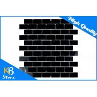 China Pure Black Stone Mosaic Wall Tiles Subway Home Flooring Tile for Bath / Bathroom / Shower Wall wholesale