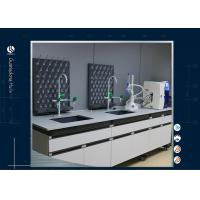 China Chemistrical Resistant Science Lab Furniture Floor Mounted Light Grey on sale
