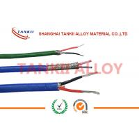 China PTFE insulated blue / red thermocouple cable  type JX KX EX with superfine bare wire conductor wholesale