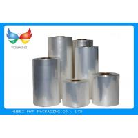 China 45mic Transparent Blown PVC Sleeve Label Film Rolls For Cans Label wholesale