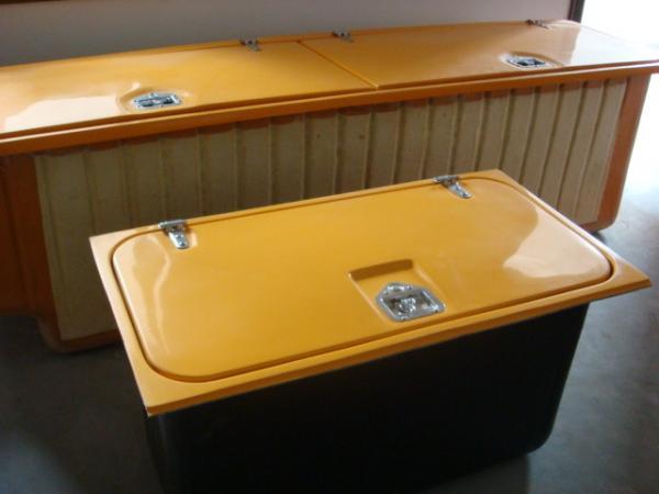 Quality FRP Fiberglass Reinforced Plastic School Bus Luggage Compartments Single Door / Double Door for sale