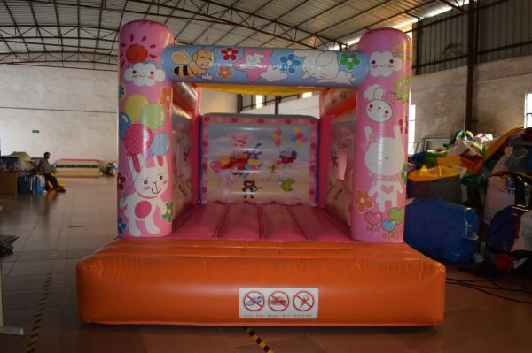 Quality Cute Rabbit Inflatable Jump House 3x4m / Kids Small Bouncy Castle for sale