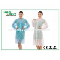 China Polyethylene disposable lab gowns with Shirt Collar , CE Certificate wholesale