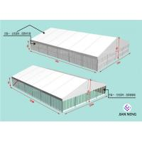China Soundproof 20x30m Aluminum Frame Tent With ABS SideWall Glass Sidewall on sale