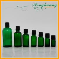 Mini Green Frosted Glass Essential Oil Bottles with Dropper Cap 5ml 10ml