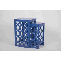 China Blue Modern Nesting Tables, Ergonomic Wooden Bedside Table 58 Cm Height wholesale