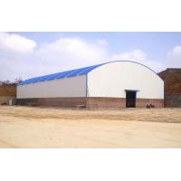 China Large Span Steel Arch Buildings Metal Arch Roof Truss Sheds For Steel Material Storage wholesale
