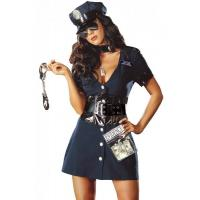 China Halloween Corrupt Cop Adult Princess Costume Sexy Police Officer Swat wholesale