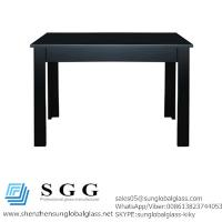 China 120cmx161cm Extending Dining Table Glass Top wholesale