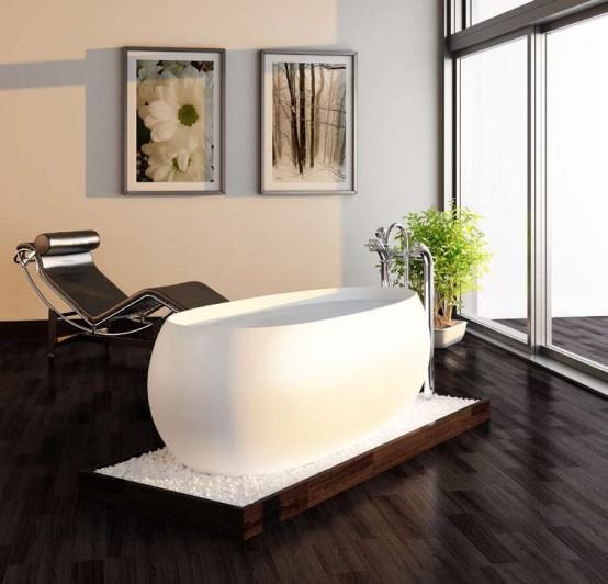 Modern Bowl Bathtubbest Acrylic Freestanding Bathtub