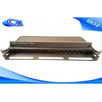 China Compact Design 24 Port Optical Fiber Patch Panel White / Black With Slide Out Drawer wholesale
