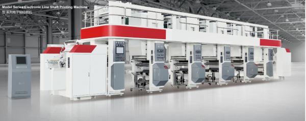 Quality ELS Rota Printing Machine Price electric drying tube 300m/min 750mm unwind/rewind 3-50kgf servo motor for sale