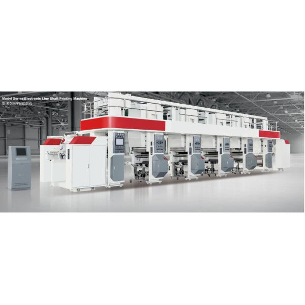 Quality ELS Rota Printing Machine Price electric drying tube 300m/min 750mm unwind/rewind 3-50kgf servo motor for sale