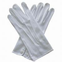 China Fashion White Cotton Gloves, Formal Wear or Uniform Accessories, Waiters, Banquet, Military wholesale