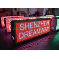 China Two Sides LED Taxi Top Advertising Signs , P5 Outdoor Taxi Roof Led Display 600W on sale