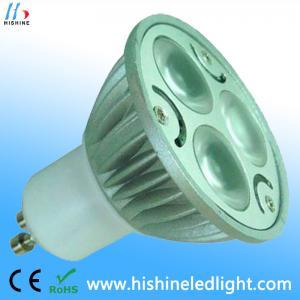 China GU10 3W COB Cool White 5500K - 7000K LED Ceiling Spot Light Bulb wholesale
