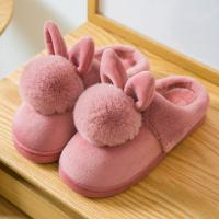 China Winter Anti-slip Lovely Indoor Shoes for Women Cozy House Slippers Mom's Cotton Shoes wholesale