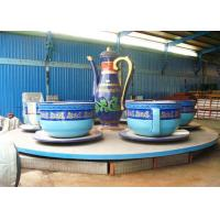 China Shopping Mall Spinning Teacups Ride With Three Small Rotating Turntable wholesale