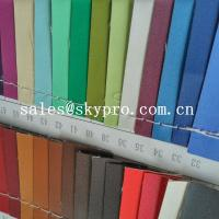 China High Quality PU Synthetic Leather Material For Shoes with Crumpled Pattern on sale