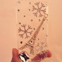 China Wholesale 2012 hot selling of Snow and Eiffel Tower Case For iphone 4/4s wholesale