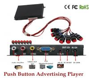 China AC 110-240V DC 12V Remote control USB SD Card Slot VGA YPbPr port Full HD Media Player on sale