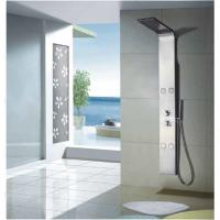 China 4 Body Jets Chrome Thermostatic Shower Panels with Rain Shower Head wholesale