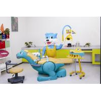 China 110v - 60hz Dentists Children Dental Chair Unit Blue Cat Side Box wholesale