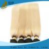 China Les cheveux 100% de blanc ont coloré des cheveux ExtensionsYaki de Vierge droits aucune catégorie des dommages 7A wholesale