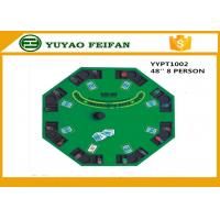 China 48 Inch 8 Person Poker Table MDF Casino Blackjack Poker Table Custom Poker Table Tops wholesale