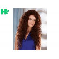 China New Stylish Elegant Long Synthetic Curly Wigs , 55CM Natural Synthetic Wig wholesale