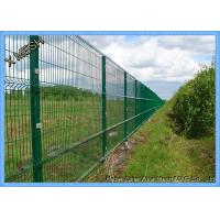 China Pvc Coated Wire Mesh Fence Panels , Metal Wire Fence Mesh Size 50*200mm on sale