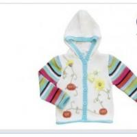 China Hooded Long Sleeve 100% Cotton and acrylic yarn Thick  Knitted Baby coat , Wear Sweaters wholesale
