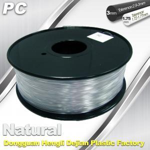China Good Transmission of Light PC 3D Printer Transparent Filament 1.75mm / 3.0mm wholesale