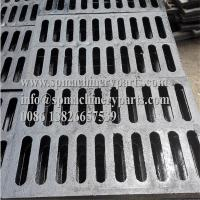 """China Lightweight and easy install 9/16 inch x 6 1/8 inch Height 3/4""""channeld grate (ductile iron) black for sale wholesale"""