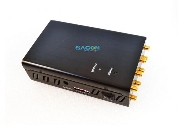 Quality DC12v 4w 3G 4G Signal Jammer With 8pcs Omni Antennas Up To 20m Work 1.5 Hours for sale