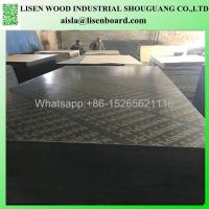 China Melamine Black film faced poplar plywood finger joint core 18mm wholesale