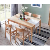 China Eco Friendly Beech Wood Dining Room Square Dining Table Customized Color / Size wholesale