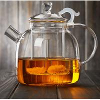 China 1900ML Heat-Resisitant Microwave Safe Glass Tea Pot Coffee Maker Infuser With Glass Basket Direct From Factory wholesale