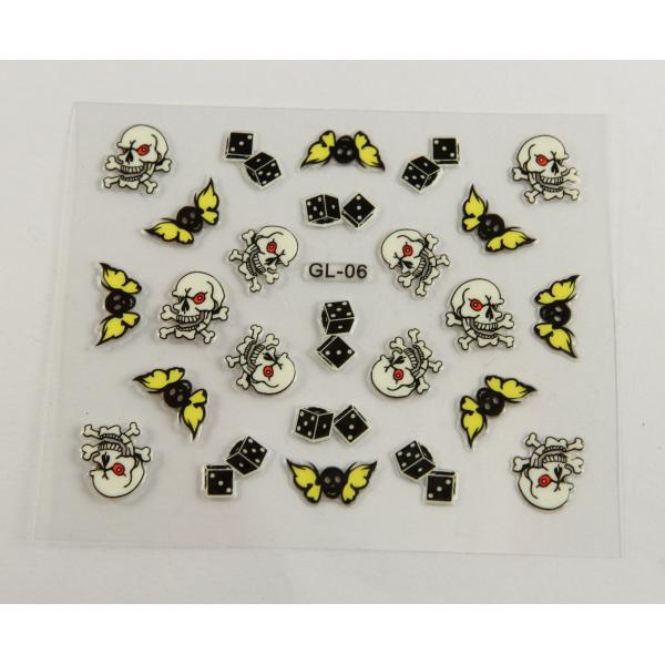 Quality Nail deco Nail Art Decals with Printing Halloween for fingers for sale