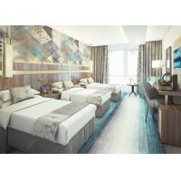 China Contemporary Modern Hotel Bedroom Furniture Sets MDF With Melamine / Laminate on sale
