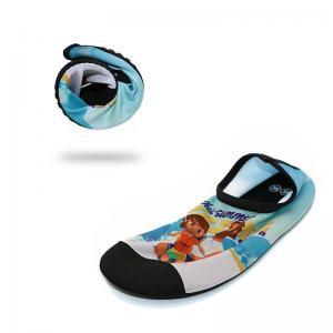 China Anti Skid Mens Beach Water Shoes For Aqua Aerobics Lycra Daddy Girl Pattern wholesale