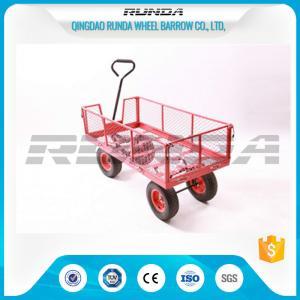 China Transport Tool Garden Mesh Cart , Heavy Duty Garden WagonSteel Tubular Handle wholesale